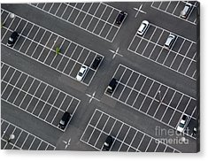 Car Park Seen From Above With Many Acrylic Print