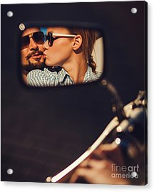 Carefree Young Couple In Sunglasses Acrylic Print