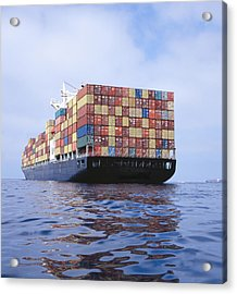 Cargo Ship Transporting Containers Acrylic Print