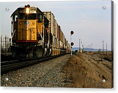 Cargo Train, Idaho, Usa Acrylic Print