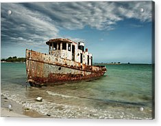Caribbean Shipwreck 21002 Acrylic Print
