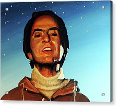 Carl Sagan Cosmos Acrylic Print