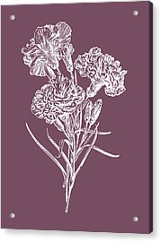 Carnations Purple Flower Acrylic Print