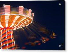 Carnival Ride Acrylic Print by By Ken Ilio