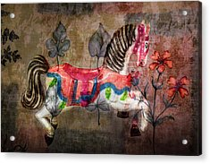 Acrylic Print featuring the photograph Carousel Prancing Dream by Michael Arend