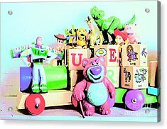 Carriage Of Cartoon Characters Acrylic Print