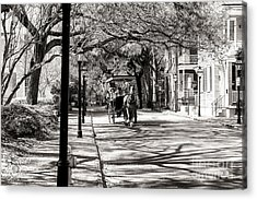 Carriage Ride Through Charleston Acrylic Print