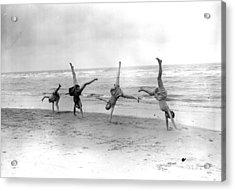 Cartwheels Acrylic Print by Fox Photos