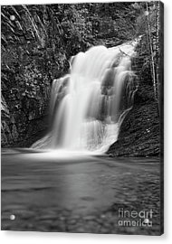 Acrylic Print featuring the photograph Cascade 1 Bw by Patrick M Lynch