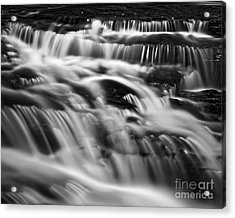 Acrylic Print featuring the photograph Cascade 5 Bw by Patrick M Lynch