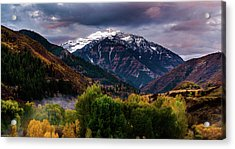 Acrylic Print featuring the photograph Cascade Mountain by TL Mair
