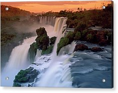Cascades Of The Iguacu Falls, The Acrylic Print by Thomas Marent/ Minden Pictures