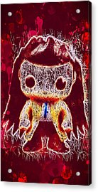 Acrylic Print featuring the mixed media Castiel Supernatural Pop by Al Matra