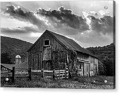 Casey's Barn - Monochrome Acrylic Print