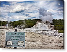 Acrylic Print featuring the photograph Castel Geyser In Yellowstone May Erupt by Tatiana Travelways