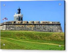 Acrylic Print featuring the photograph Castillo San Felipe Del Morro, Old San Juan, Puerto Rico by Dawn Richards