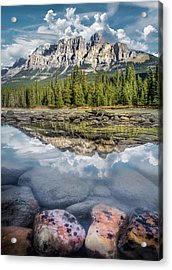 Acrylic Print featuring the photograph Castle Mountain / Alberta, Canada  by Nicholas Parker