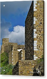 Castle Wall In Alentejo Portugal Acrylic Print