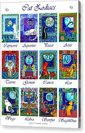 Cat Zodiac Astrological Signs Acrylic Print