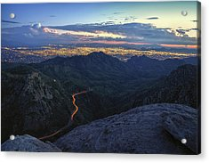 Catalina Highway And Tucson Acrylic Print