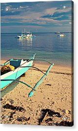 Catamarans On Sea Acrylic Print by Flash Parker