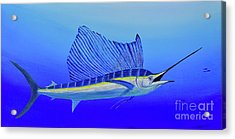 Acrylic Print featuring the painting Catch Me If You Can by Mary Scott