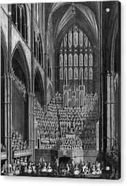 Cathedral Orchestra Acrylic Print by Hulton Archive
