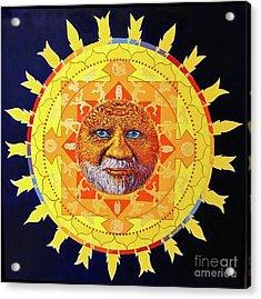 Cbs Sunday Morning Sun Mandala Acrylic Print