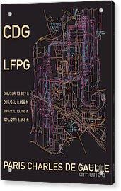 Cdg Paris Airport Acrylic Print