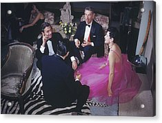 Celebrity Guests Acrylic Print by Slim Aarons