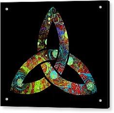 Celtic Triquetra Or Trinity Knot Symbol 1 Acrylic Print
