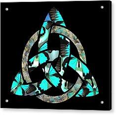 Celtic Triquetra Or Trinity Knot Symbol 2 Acrylic Print