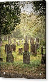 Acrylic Print featuring the photograph Cemetery In The Pines by Kristia Adams