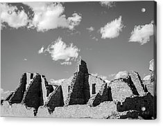 Acrylic Print featuring the photograph Chaco Ruins I Bw by David Gordon