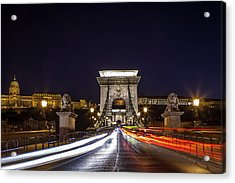 Chain Bridge Traffic Acrylic Print by Andrew Soundarajan