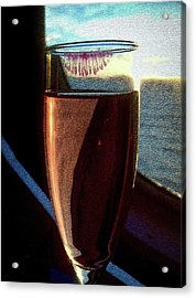 Acrylic Print featuring the photograph Champagne Glass Lipstick by Bill Swartwout Fine Art Photography