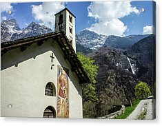 Acrylic Print featuring the photograph Chapel Of Santa Maria Of Castello, Mesocco, Switzerland by Dawn Richards