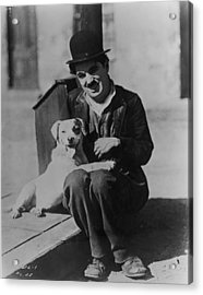Chaplin And Mutt Acrylic Print by Fpg