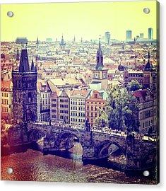 Charles Bridge, Prague Acrylic Print
