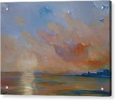 Charles Fort Kinsale Below A Painted Sky Acrylic Print by Conor Murphy