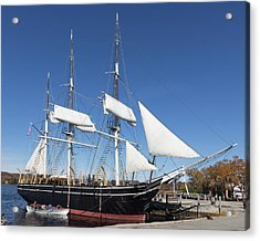 Acrylic Print featuring the photograph Charles W Morgan - Mystic Ct by Kirkodd Photography Of New England