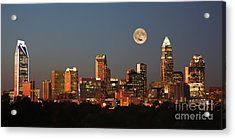 Charlotte City Skyline At Sunset Acrylic Print