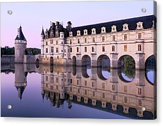 Chateau Chenonceau With Cher River Acrylic Print