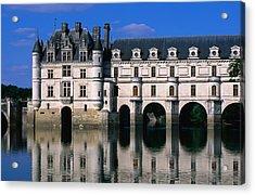 Chateau De Chenonceau Along Cher River Acrylic Print