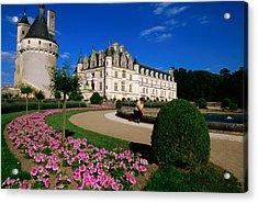 Chateau De Chenonceau With Catherine De Acrylic Print