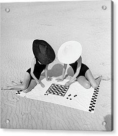 Checkers On The Beach Acrylic Print