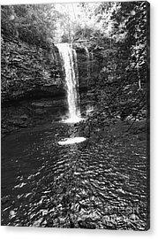 Acrylic Print featuring the photograph Cherokee Falls Bnw by Rachel Hannah