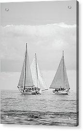 Acrylic Print featuring the photograph Chesapeake Bay Skipjacks by Mark Duehmig