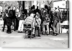 Chess Match Union Square  Acrylic Print