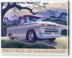 Chevy Truck Centennial 1964 Shortbed Custom Half Ton Acrylic Print